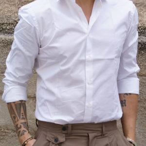 Camicia slim cotone bianco