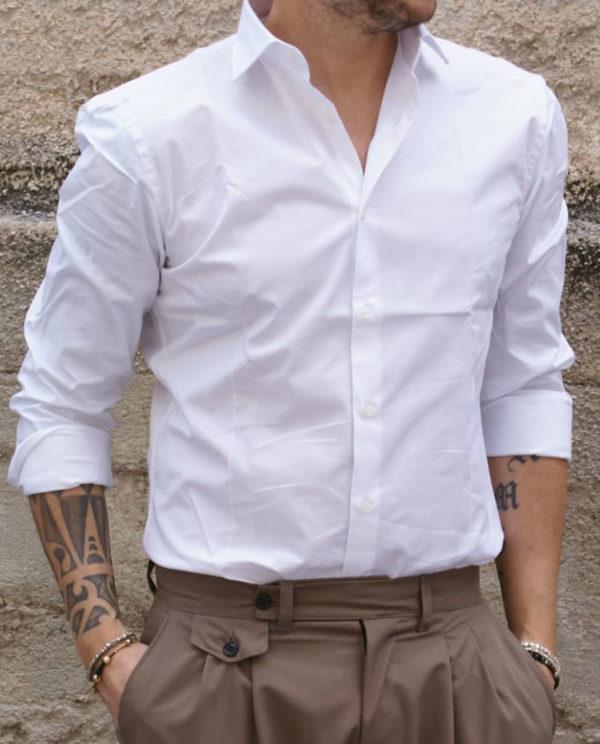 camicia slim bianca