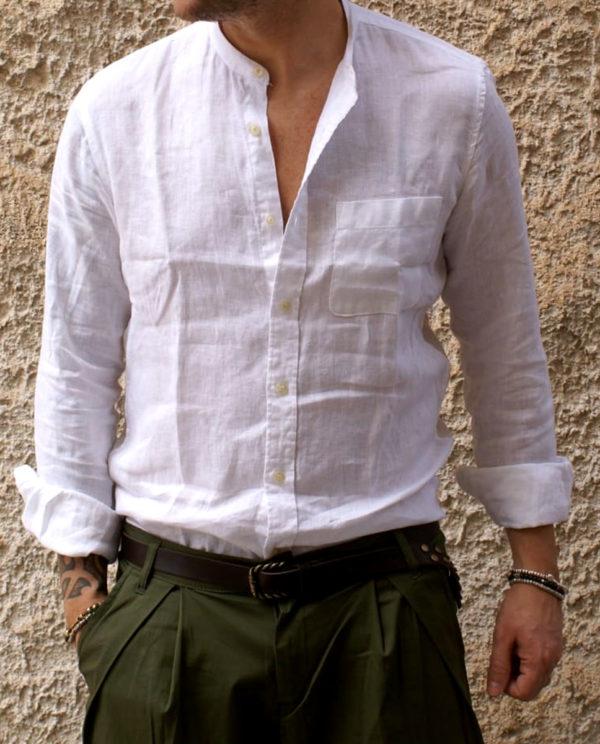 camicia lino bianca