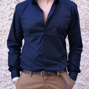 Camicia slim blu