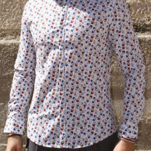 Camicia coreana fiori