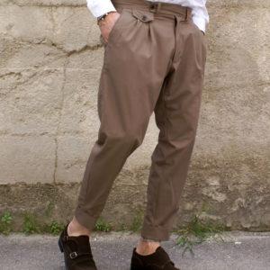 Pantalone sartoriale pinces e taschino