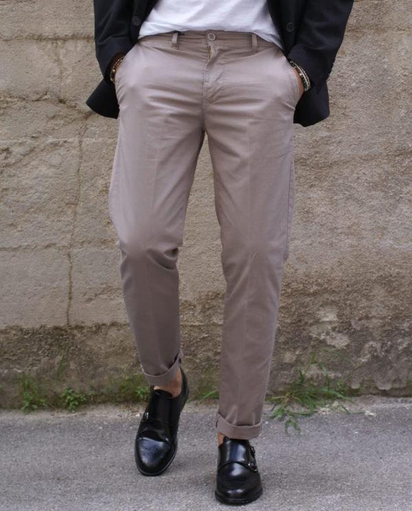 Pantalone gessato grigio