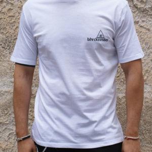 T shirt bianca stampa con scritta retro