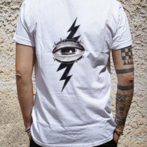 Tshirt Rebirth bianca stampa occhio