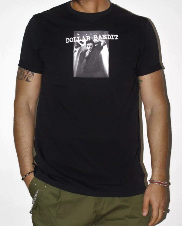 Tshirt nera Dollar Bandit fronte