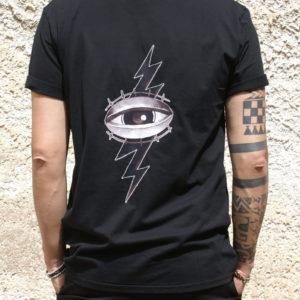 Tshirt Rebirth nera stampa occhio