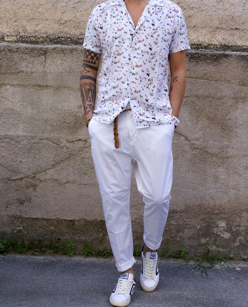 white outfit uomo