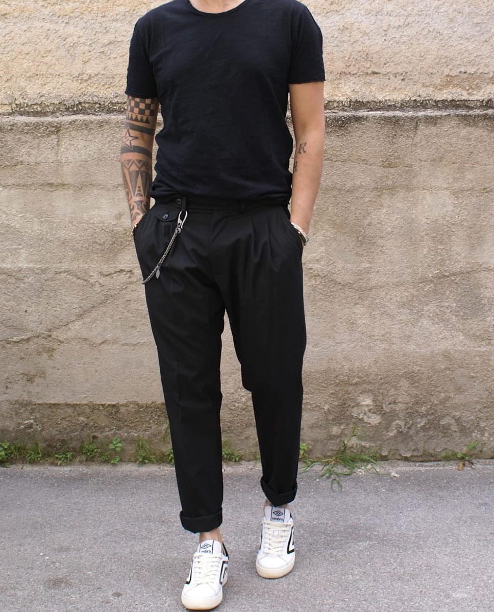 black outfit uomo