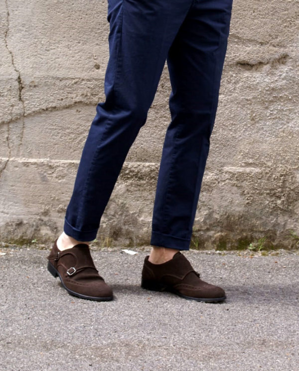scarpe marroni camoscio