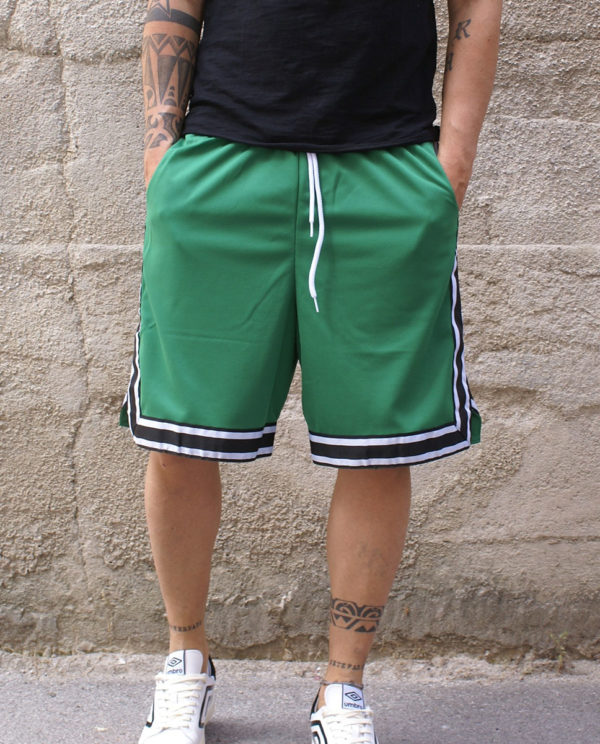 Pantaloncino basket verde