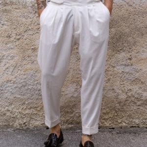 Pantalone sartoriale bianco
