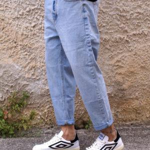 Pantalone denim chiaro